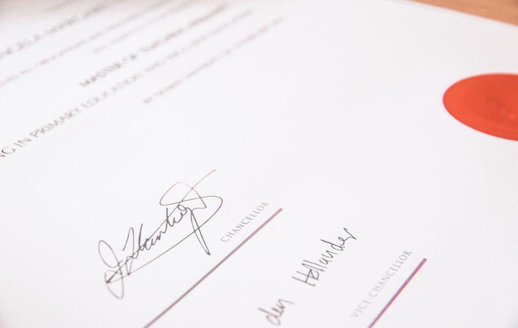 資格の証明書